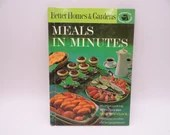 1963 Better Homes & Gardens Meals in Minutes Cookbook - 150 Recipes - 1960s Mid Century Cook Book - 180 Recipes - Quick Meal Recipes
