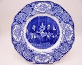 Vintage 1930s Crown Ducal George Washington Bicentennial Memorial Plate - Washington and his Family