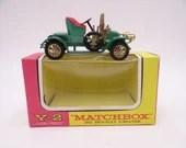 MIB 1960s Vintage Lesney Matchbox Y-2 Models of Yesteryear 1911 Renault Die Cast with Original Box