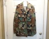 Vintage US Airforce Sergeant Men's Parachutist Camo Jacket Chest Size 37 to 41 Medium Regular