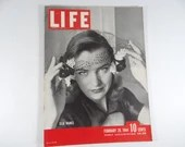1944 Life Magazine Wartime Issue, February 28,  Ella Raines - Bombing of Berlin - Charles Chaplin