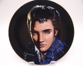"Vintage Elvis Presley Delphi Portraits of the King Series ""Are you Lonesome Tonight"" Limited Edition Collector Plate"