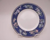 """Near Mint Vintage Wedgwood English Bone China """"Blue Siam"""" Bread and Butter Plate - 8 Available"""