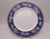"""Near Mint Vintage Wedgwood English Bone China """"Blue Siam"""" Blue Dinner Plate - 8 Available"""