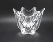 """Vintage Signed Crystal Class Round """"Belle"""" Bowl - Delightful"""