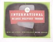 Vintage 1950s Original International De Luxe Delivery Trucks Dealer Brochure