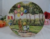 1979 The Balloon Man by Dominic John Mingolla Collector Plate In Original Box with COA
