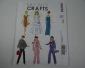 New Uncut FF McCall's 6258 Pattern - Fashion Doll Clothes Pattern - Wedding Dress - Dress - Evening Gown Coat Beret Pajamas Work Out Clothes