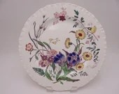 "Vintage Wedgwood English Bone China ""Ranunculus"" Dinner Plate AK7960 - R1"