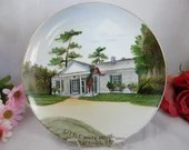 Vintage FDR Rooseevelt  Little White House Warm Springs, GA Souvenir Plate