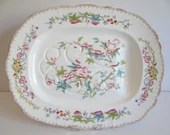 "1926 Antique Minton English Bone China ""Cuckoo"" Large Meat Serving Platter"