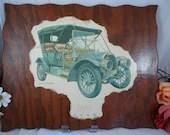 Vintage Large Biederman Classic Car Print - 1909 Welsh