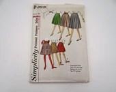 Vintage 1950s Simplicity Pattern #5033 Waist 32 Hip 42 Pleated Skirt Pattern - 1950s Skirt Pattern - Vintage Fashion Pattern - Uncut