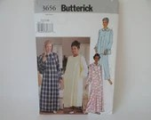 Butterick Woman's Night Gown and Pajama Sewing Pattern #3656 - New and Uncut - 3 Sizes -  Extra Small - Small - Medium - Pajama Pattern