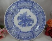 "Vintage Spode Blue Room Collection Blue and White Dinner Plate ""Seasons"""