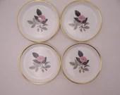 """Set of 4 Wedgwood English Bone China """"Hathaway Rose"""" Coasters"""