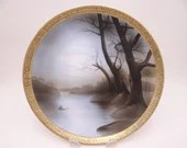 Antique Hand Painted Nippon Large Plate - Stunning