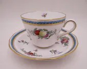 """Vintage Spode Made in England English Bone China """"Trapnell""""  Teacup and Saucer Set Y6836 - 9 Available English Tea Cup"""