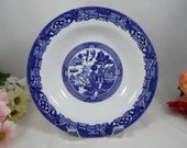 Royal Cuthbertson Blue and White Blue Willow Ware Rim Cereal or Soup Bowl - 8 Available