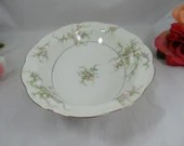 """Thomas Haviland New York Made in USA Oval Vegetable Bowl """"Rosalinde"""" Pink Spray Pattern - 2 available"""