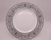 "Vintage Royal Doulton Mid Century English Bone China ""Baronet"" Dinner Plate  -  8 Available"
