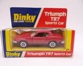 MIB Vintage Dinky Toys 211 Triumph TR7 Sports Car Die Cast Toy Car in Original Box