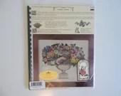 "Vintage DMC Color Heart's Content ""Floral Finesse"" 47 Page Cross Stitch Pattern Booklet"