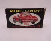 "Vintage Mini-Lindy Lindberg Line Build 'n' Collect 3 ""Corvette Stingray"" Toy Car in Original Box"