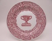 "Vintage Spode Archive Collection Cranberry Dinner Plate ""Warwick Vase"""
