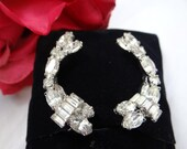 Vintage Signed Hattie Carnegie Rhinestone Clip Earrings Gorgeous Vintage Carnegie Earrings
