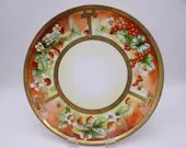 """Vintage Hand Painted Artist Signed """"Mueller"""" Thomas Sevres Bavaria Cherries, Apples and Strawberries Plate - Lovely"""