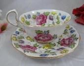 1950s Royal Standard English Bone China Teacup Royal Tudor English Teacup and Saucer Charming English Tea Cup