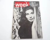 """March 1955  """"Picture Week"""" Pocket Sized Magazine - The Most Beautiful Women in the World"""