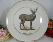 """1976 Bicentenial """"American White Tailed Dear"""" design by Edward Burley- Limited Edition Large Collectible Plate by Ghent Collection"""