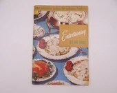 """1956 Vintage Culinary Arts Institute Recipe Booklet """"Entertaining Six or Eight"""""""