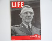 """Vintage 1942 Life Magazine June 15 WWII Wartime Issue  """"General Stilwell"""" -  R. A. F. Blasts Germany - Negroes at War - Nurses in Bataan"""