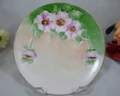 1900s Vintage Hand Painted Nippon Small Poppy Plate