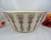 Vintage Hand Painted Lenox Lido Salad Bowl or Serving Bowl with 24K Gold