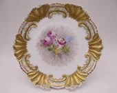c1890s Hand Painted Limoges France Klingenberg and Dwenger Cabinet Plate - Simply Incredible