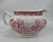 """Vintage Woods & Sons England """"The Post House Pink"""" Creamer"""