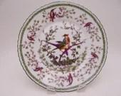 Antique English Bone China Thomas Poole Bird of Paradise Plate - 2 Available