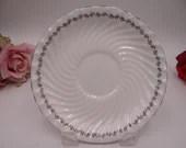 "Aynsley English Bone China Large Saucer ""Princelea"" 8197 Pattern Platinum Trim - 5 Available"