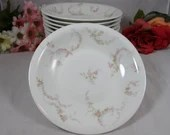 1900s Theodore Haviland Limoges France Pink Rose or Pink Spray Fruit Soup or Cereal Bowl - 6 Available H365