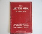 October 1909 Ladies Home Journal Magazine - The First Department of American Fashion- Women's Fashion - Good Housekeeping