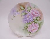 1900s Hand Painted and Artist Signed Jaeger Co  Bavaria J&C Chrysanthemum Just Charming