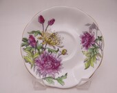 1950s Vintage Hand Painted English Royal Albert Flower of the Month Chrysanthemum Replacement Teacup Saucer