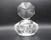 Vintage Bohemian Crystal Large Perfume Bottle Cologne Bottle