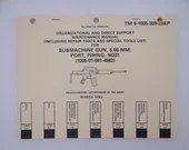 "1982 Department of the Army Technical Field Manual TM 9-1005-309-23 "" Submachine Gun, 5.56-MM Port, Firing, M231"""