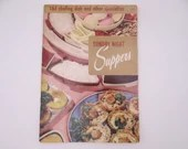 """1956 Vintage Culinary Arts Institute Recipe Booklet """"Sunday Night Suppers"""""""