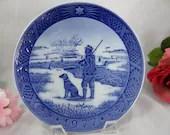 1977 Royal Copenhagen Collectible Christmas Plate - Immervad Bridge